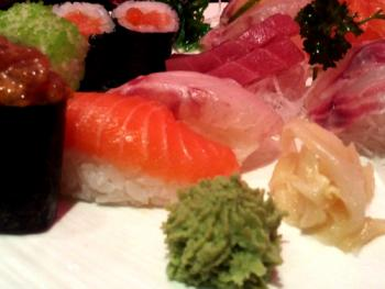 Restaurant Itami sushi eten - Sushi, nigiri, wasabi, ginger